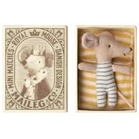 Maileg baby muis jongetje in doos