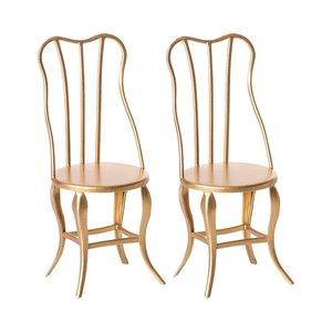 Maileg Maileg Vintage gouden stoelen (set van 2)