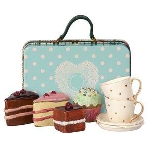 Maileg Maileg koffer met high tea set voor 2
