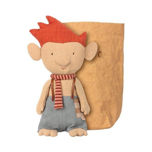Maileg Maileg Trol met rode sjaal in zak