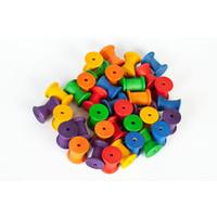 Grapat Set van 36 regenboog klossen