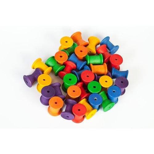 Grapat Grapat Set van 36 regenboog klossen