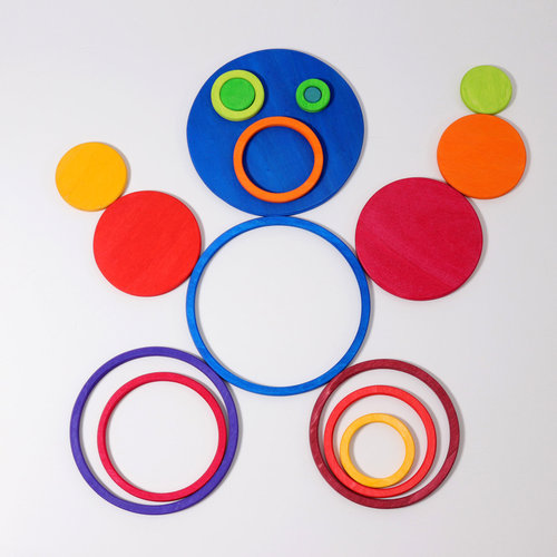 Grimms Grimms Set van 20 Cirkels en Ringen