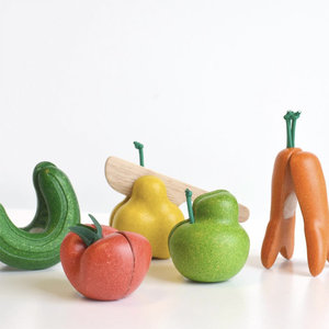Plan Toys Plan Toys Kromkommer Groente en snijfruit