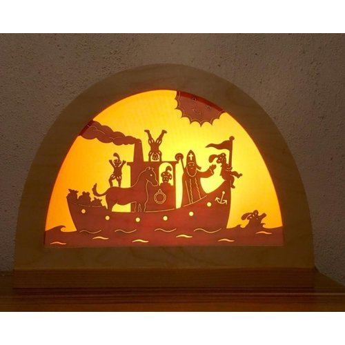 De Noest De Noest Stoomboot van Sint Silhouet