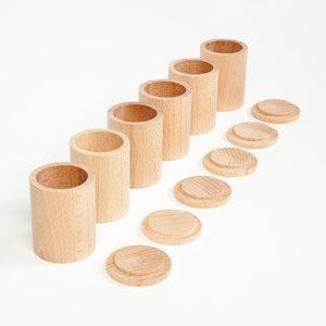 Grapat Grapat Cups met Deksel - 6 stuks - naturel