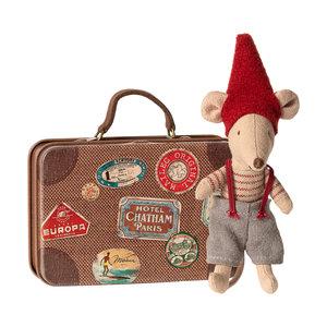Maileg Maileg Kerst Muis in koffertje - klein broertje