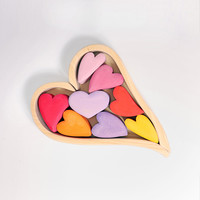 Grimms houten stapel hartjes