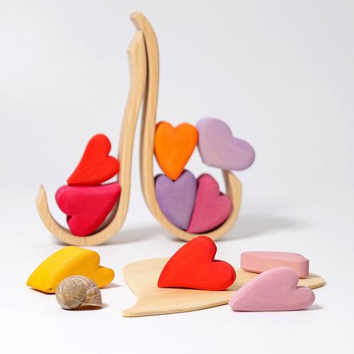 Grimms Grimms houten stapel hartjes