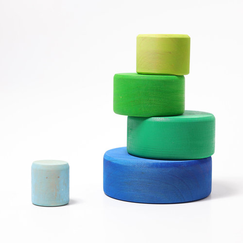 Grimms Grimms Stapelbakjes Blauw/groen