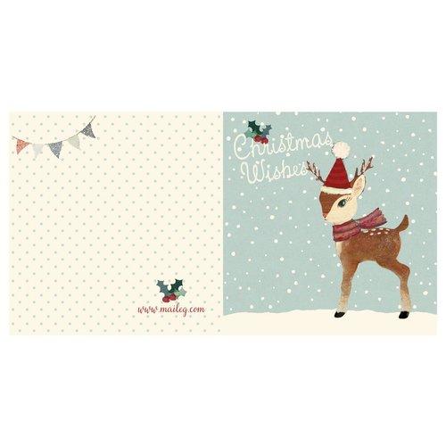 Maileg Maileg Kerstkaart Bambi