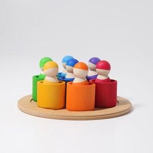 Grimms Grimms  7 vriendjes in bakjes in regenboogkleuren