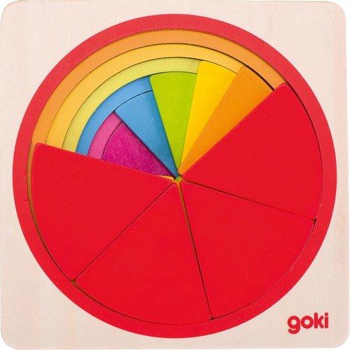 Goki Goki houten vormen puzzel breuken