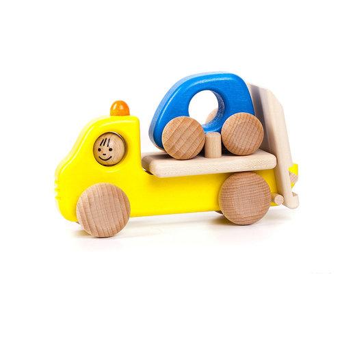 Bajo Houten Speelgoed Bajo Wegenwacht met auto