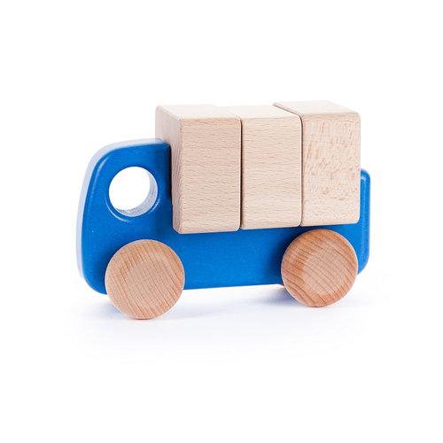 Bajo Houten Speelgoed Bajo Vrachtwagen met blokken