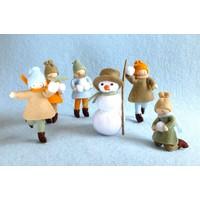 Atelier Pippilotta 5 Kinderen en Sneeuwpop