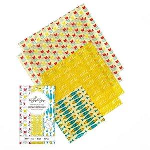 Respiin Bee Wraps Set van 5 stuks - Familie collectie