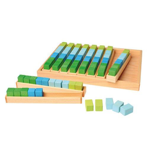 Grimms Grimms Rekenblokken, 100 stuks in 4 kleuren