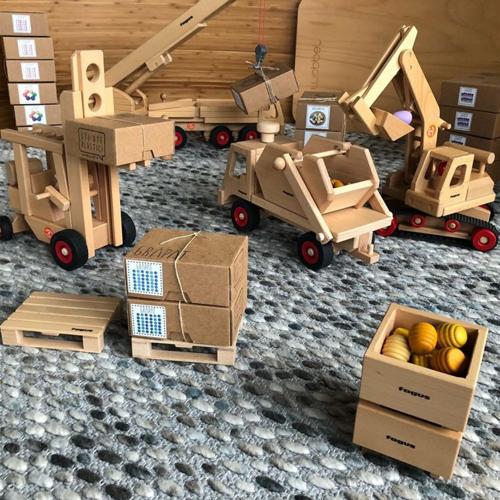 Fagus Houten Speelgoed Fagus Containerwagen