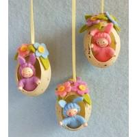 Atelier Pippilotta Drie Paashaasjes in Ei