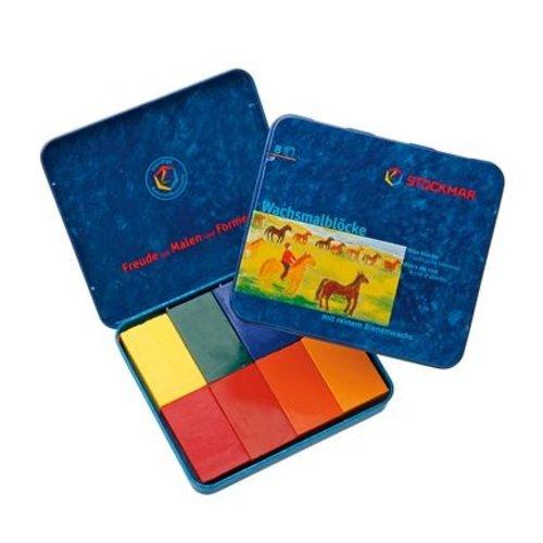 Stockmar Stockmar wasblokjes 8 stuks waldorf kleure