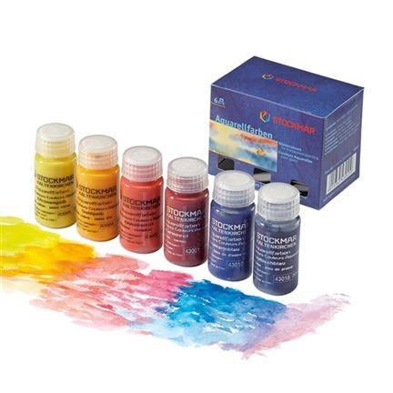 Stockmar Aquarelverf set 6 kleuren  - Hout en Plezier