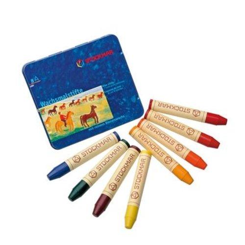 Stockmar Stockmar wasstiftjes 8 stuks waldorf kleuren