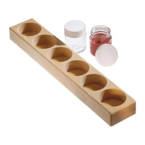 Hout & Plezier Verfpot houder (voor 3 of 6 potten)