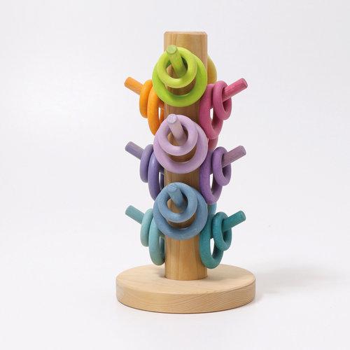 Grimms Grimms Sorteerboom pastel voor de ringen