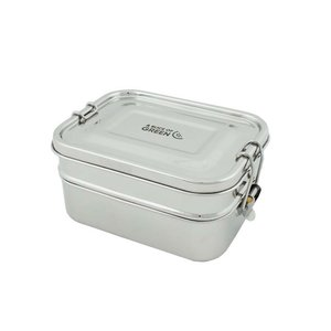 A Slice of Green Buruni - Dubbele RVS Lunch Box lekvrij