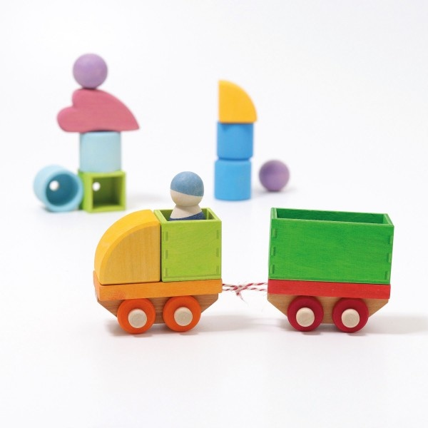 Grimms bouwset trein