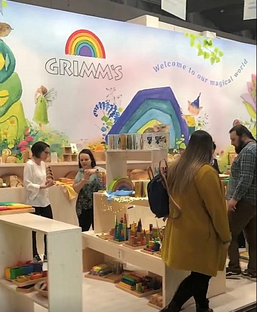 Hout & Plezier bezoekt Grimm's op de Spielwarenmesse 2020