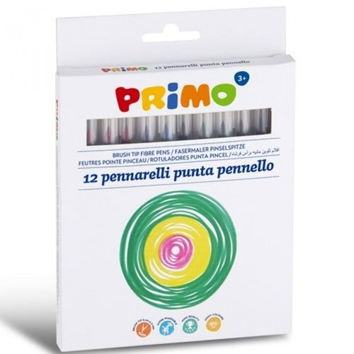 Primo Primo 12 stiften met penseelpunt