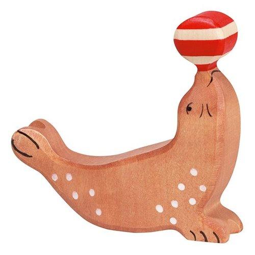 Holztiger Holztiger Zeehond met bal