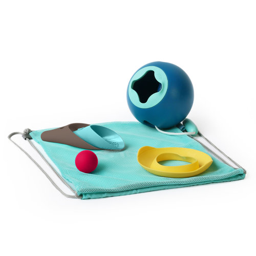Quut Quut Beach set 2: Mini Ballo, Cuppi en Shaper in beach bag