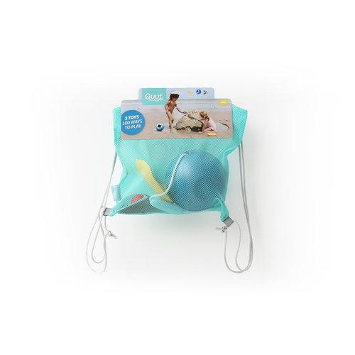 Quut Quut Beach set 2: Mini Ballo, Cuppi en Shaper in beach bag