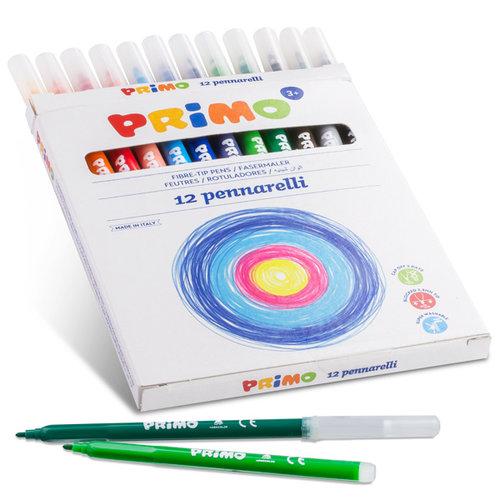 Primo Primo 12 Viltstiften uitwasbaar ø 2,5 mm