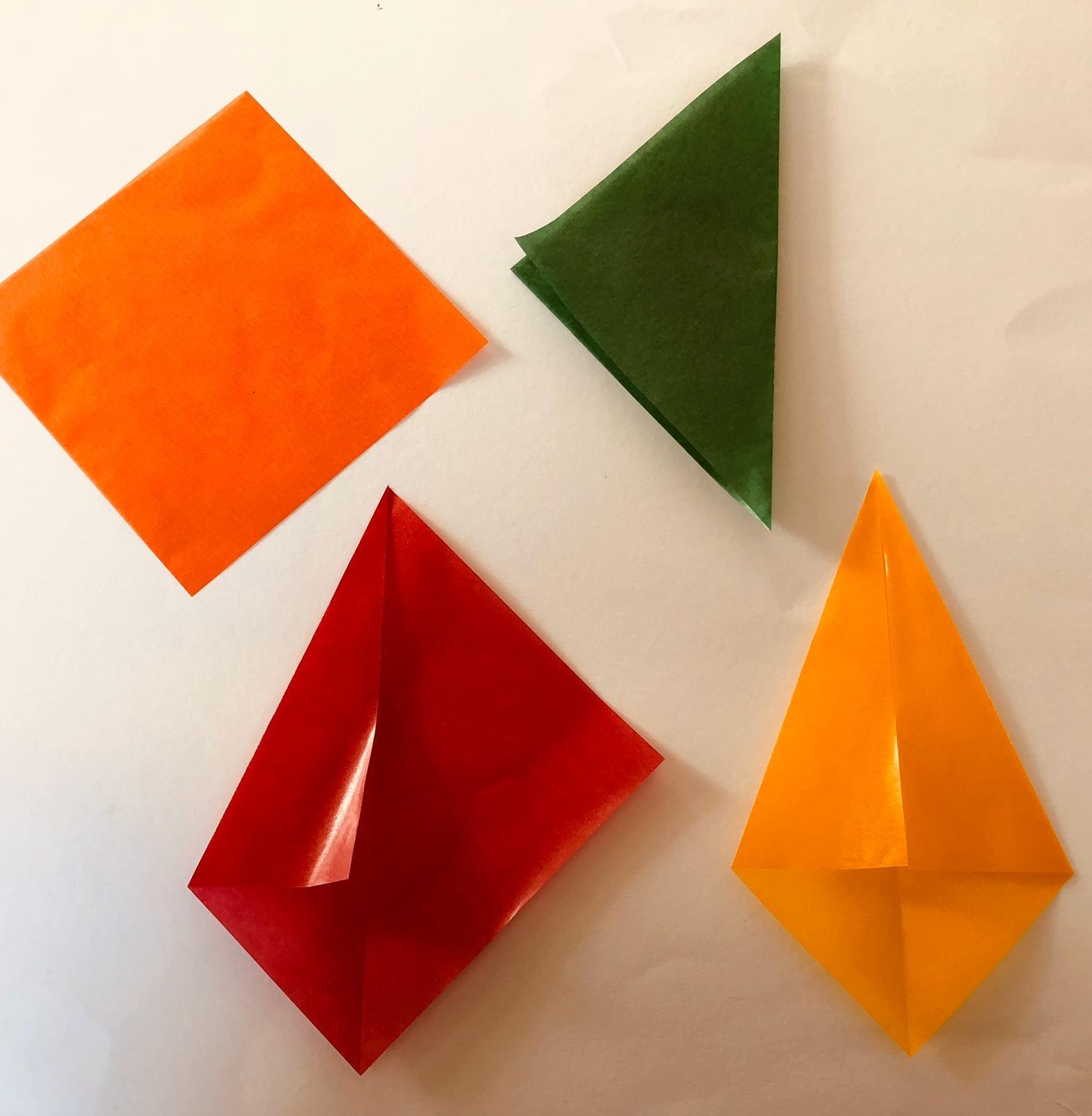 Ster van vliegerpapier - stap 1 - Hout en Plezier