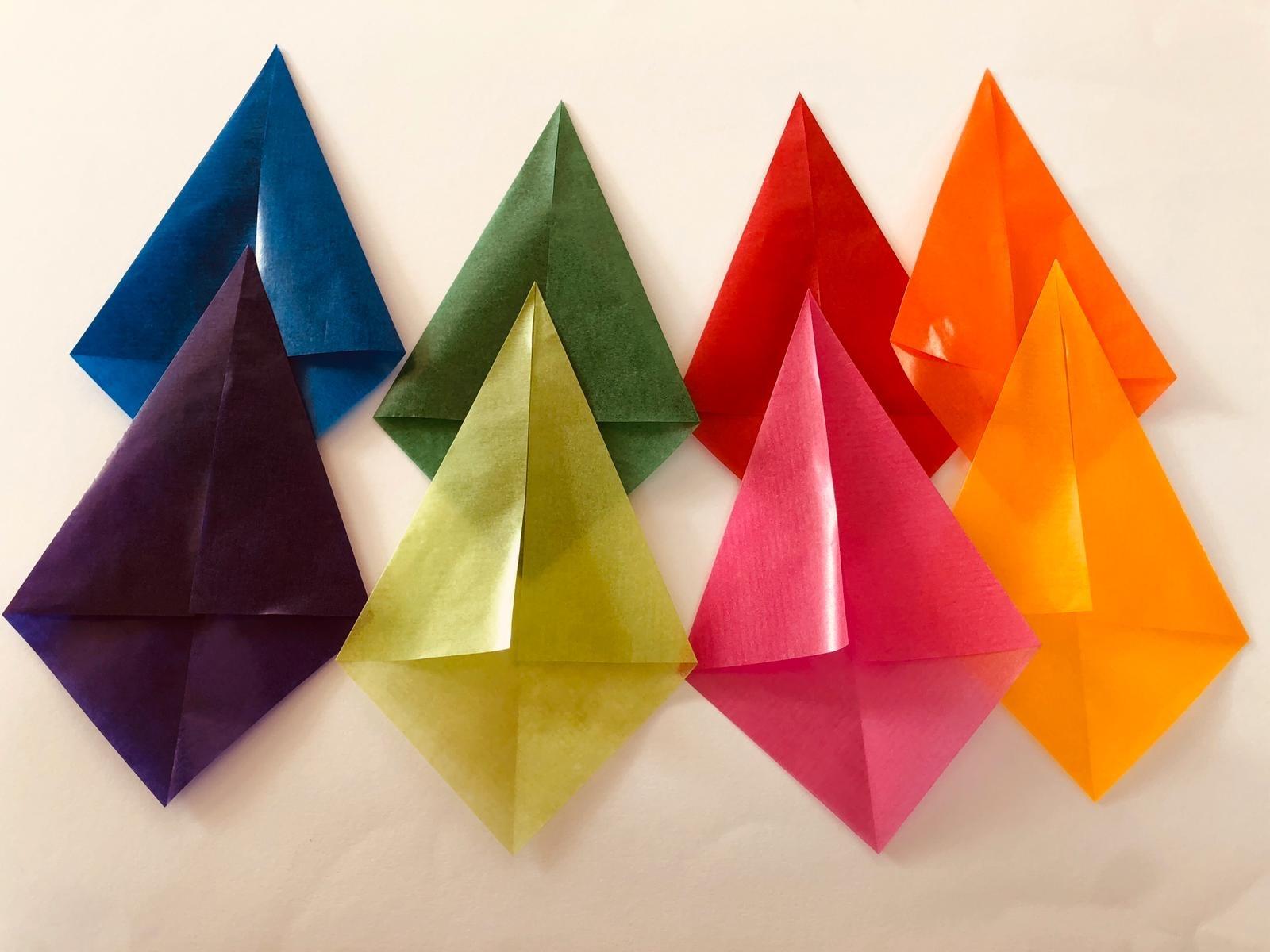 Ster van vliegerpapier - stap 2 - Hout en Plezier