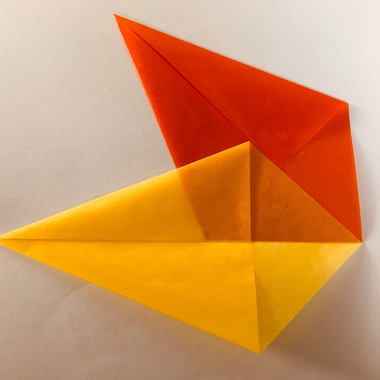 Ster van vliegerpapier - stap 3 - Hout en Plezier