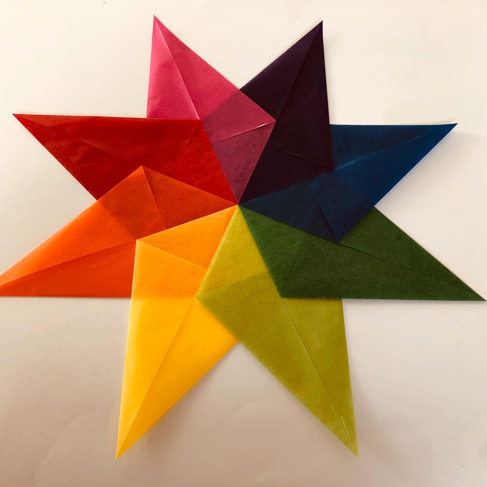 Ster van vliegerpapier - stap 4 - Hout en Plezier