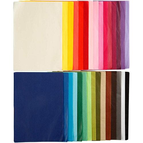 Hout & Plezier Vloeipapier Set 300 A4 vellen (30 kleuren)