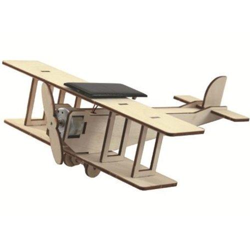 Sol-expert Bouwpakket - Dubbeldekker vliegtuig met zonnepaneel