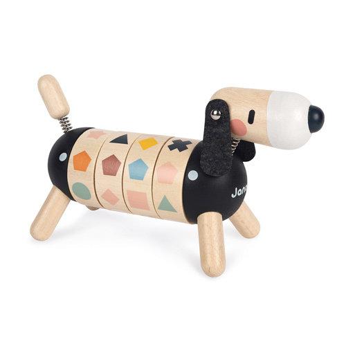 Janod Janod Sweet Cocoon - Hond met vormen en kleuren