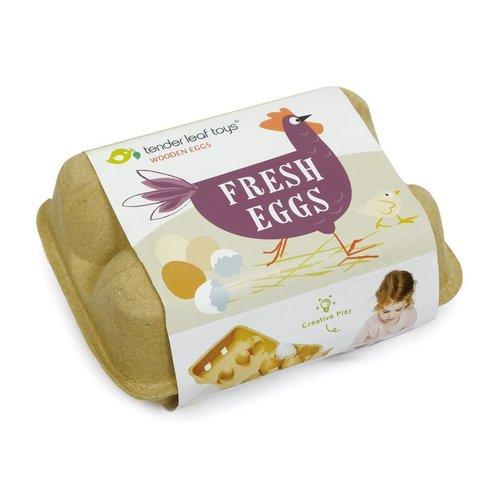 Hout & Plezier Tender Leaf Toys Houten Eieren