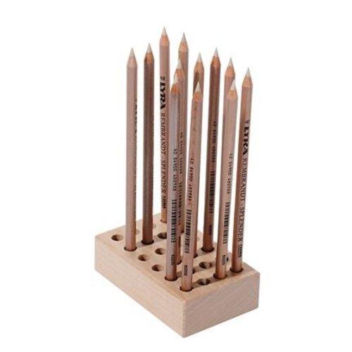 Hout & Plezier Potlodenblok, voor 24 potloden
