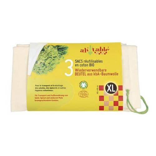 Hout & Plezier Groente en Fruitzak XL - 3st 40x40