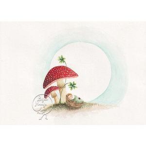 Bijdehansje Kaartjes Bijdehansje Mushroom Baby