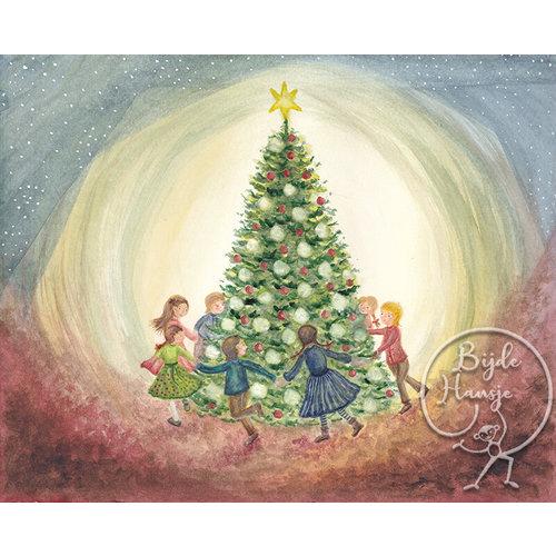 Bijdehansje Kaartjes Bijdehansje Kerstboom