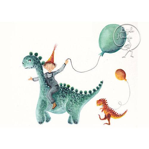 Bijdehansje Kaartjes Bijdehansje Dino